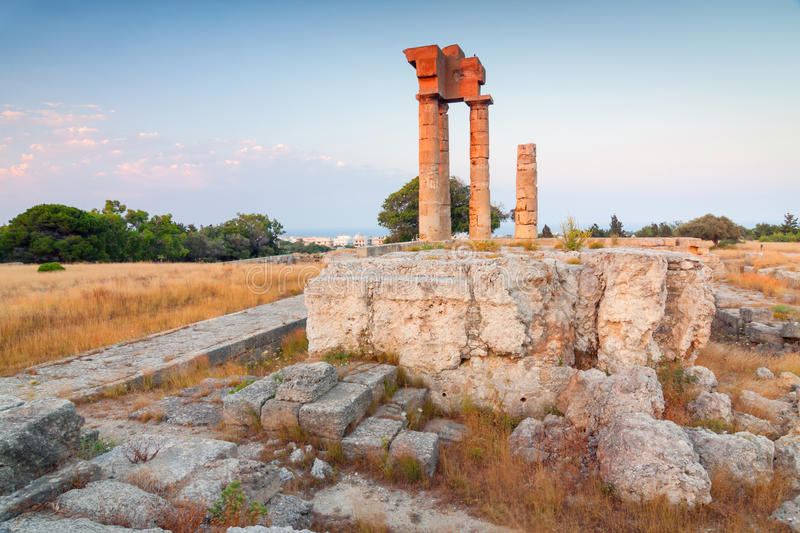 Acropolis of Rhodes Greece. Acropolis of Rhodes at Monte Smith on the Island of Rhodes Greece royalty free stock photos