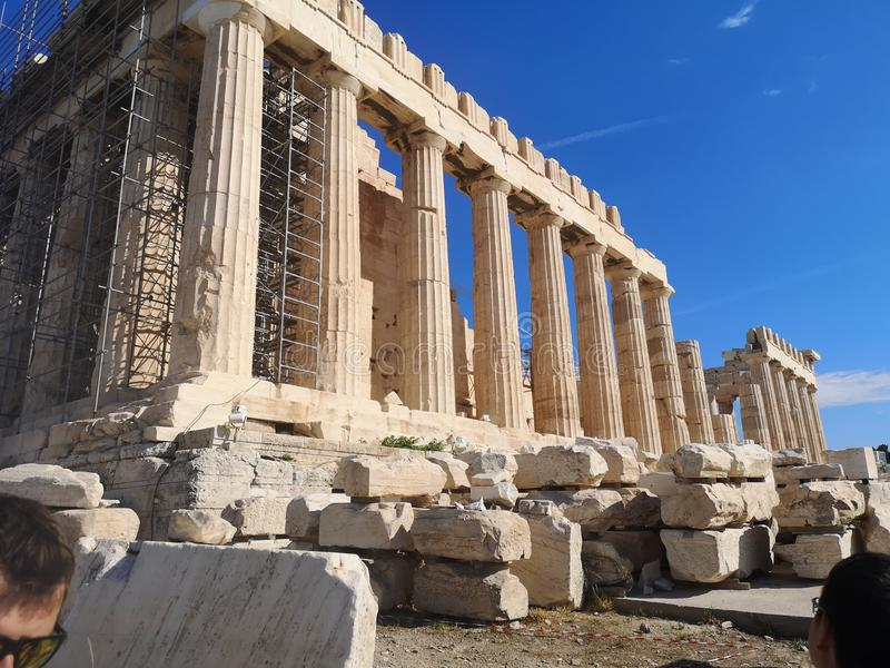 Acropolis ruins Parthenon from Athens, Greece royalty free stock images
