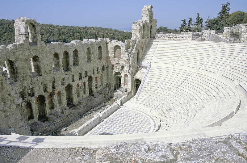 Download Acropolis theatre stock image. Image of olympic, archeology - 14601029