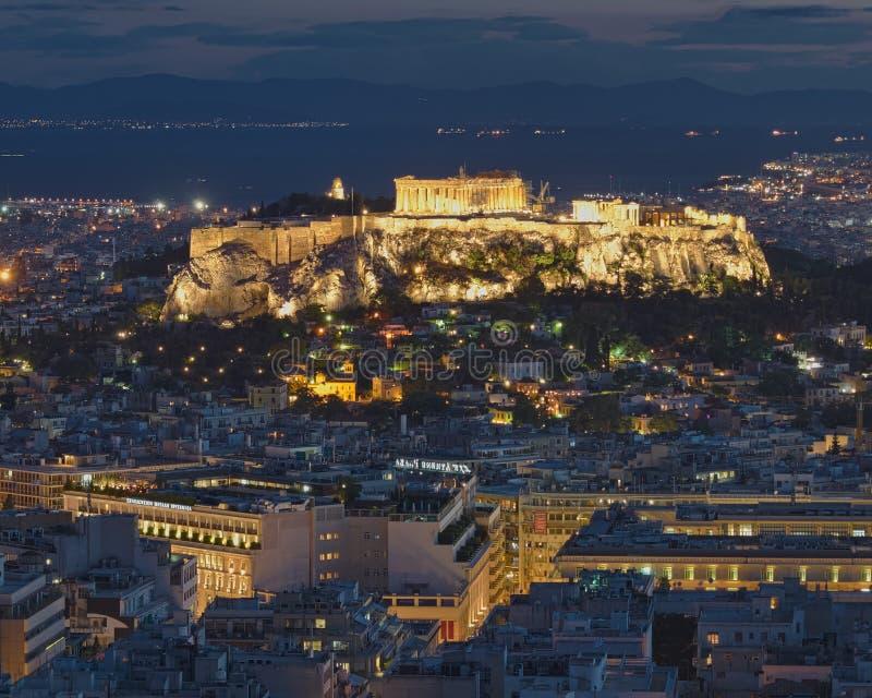 Download Acropolis at twilight stock image. Image of citadel, acropolis - 25393839