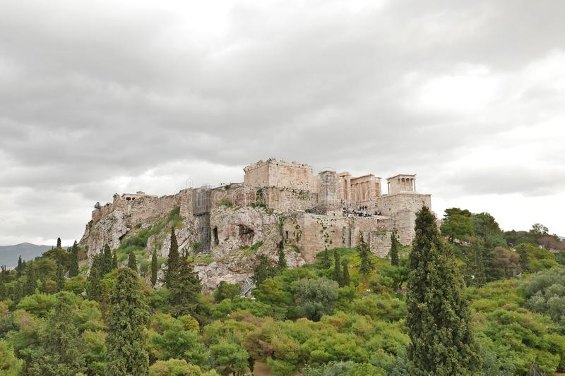 Acropolis. View from Areopagus (Ares Rock stock photos