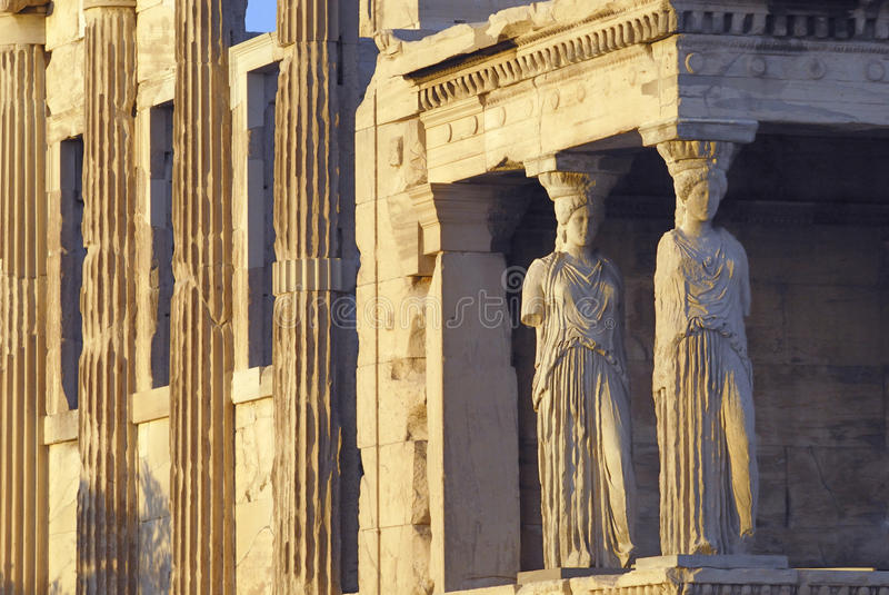 acropolisathens erechtheion arkivfoton