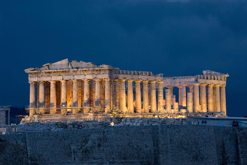 acropolisathens parthenon royaltyfria bilder