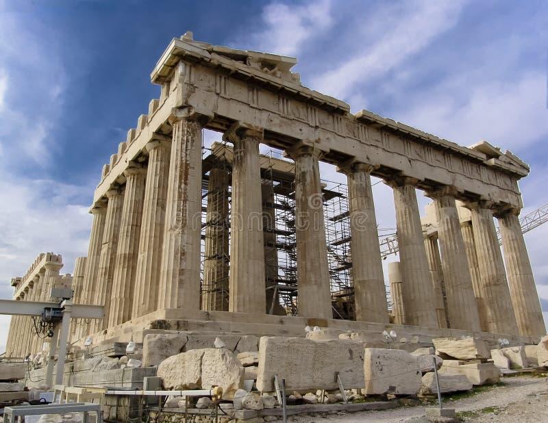 acropolisen athen parthenontempelet arkivbilder