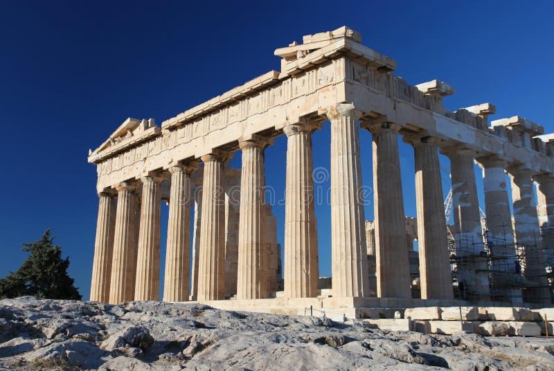 Acropolisen i Athens arkivfoton