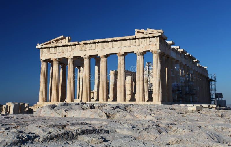 Acropolisen i Athens royaltyfria foton