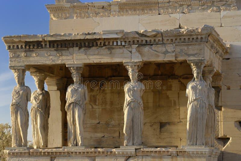 acropoliserechtheion greece arkivbild