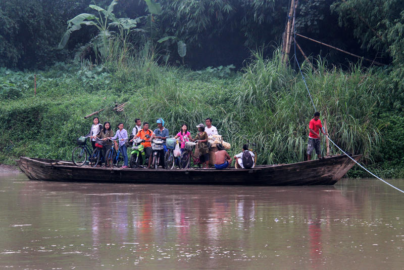 Across Bengawan Solo River stock photo