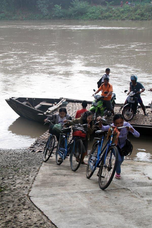 Across Bengawan Solo River stock images