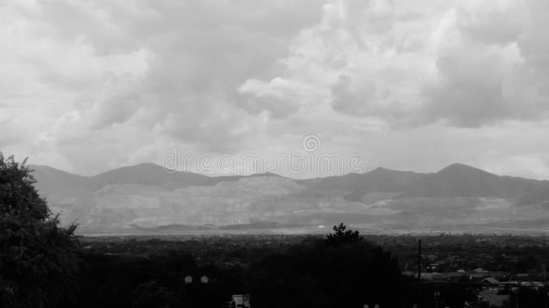 Across the valley stock photography