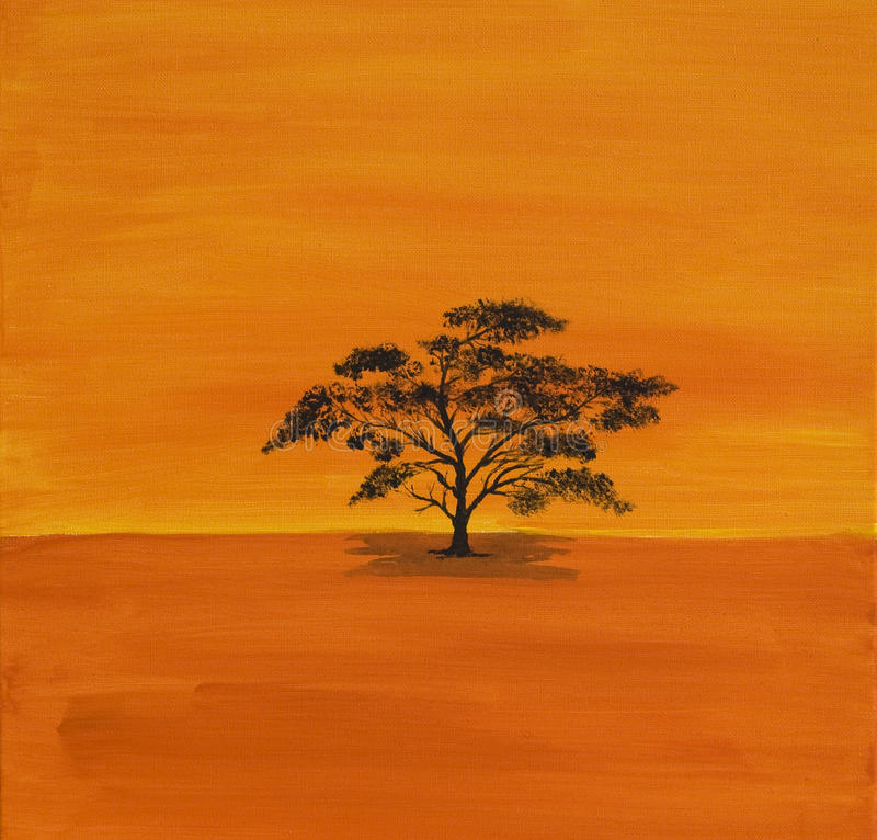 Acryl Acacian in Afrika royalty-vrije stock afbeelding