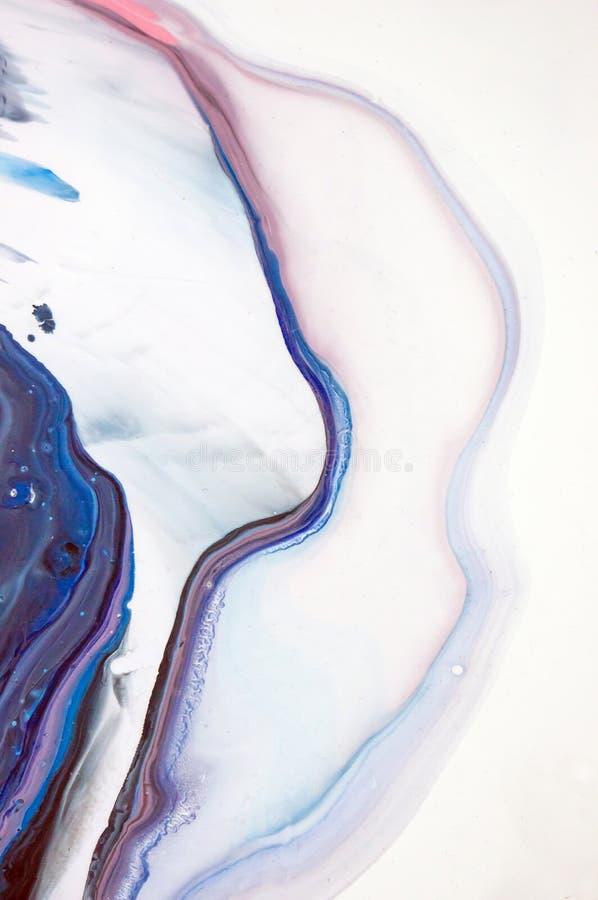 Acryl, Farbe, abstrakt Nahaufnahme der Malerei Bunter abstrakter Malereihintergrund Hoch-strukturierte Ölfarbe Hohe Qualität stock abbildung