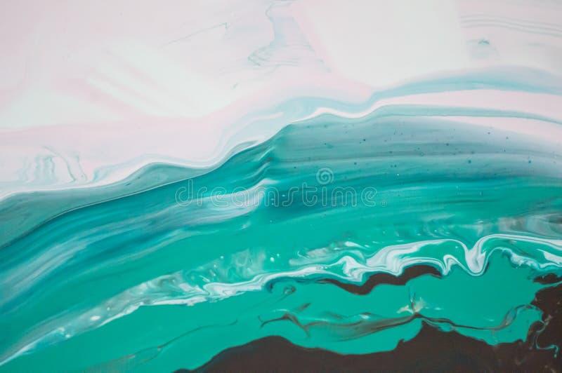 Acryl, Farbe, abstrakt Nahaufnahme der Malerei Bunter abstrakter Malereihintergrund Hoch-strukturierte Ölfarbe Hohe Qualität lizenzfreie stockfotografie