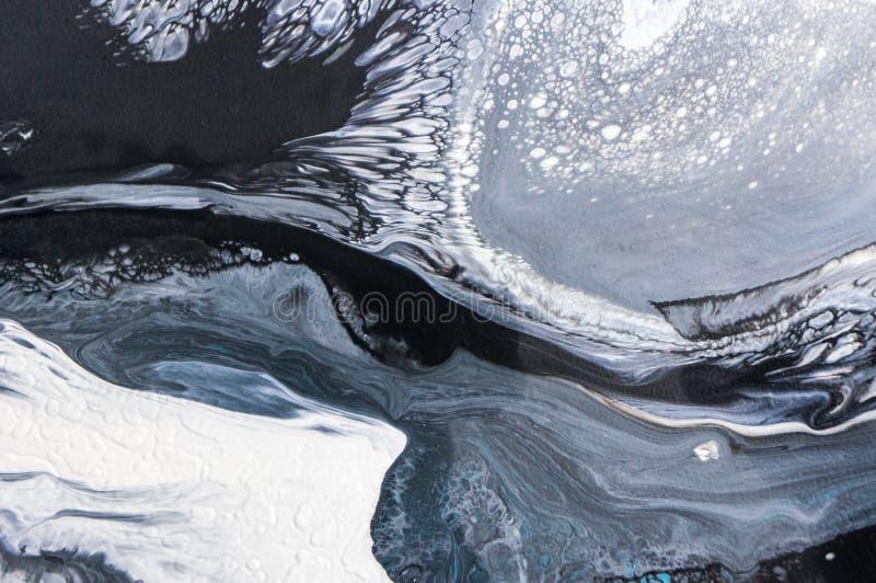 Acryl, Farbe, abstrakt Nahaufnahme der Malerei Bunter abstrakter Malereihintergrund Hoch-strukturierte Ölfarbe Hohe Qualität stockbild