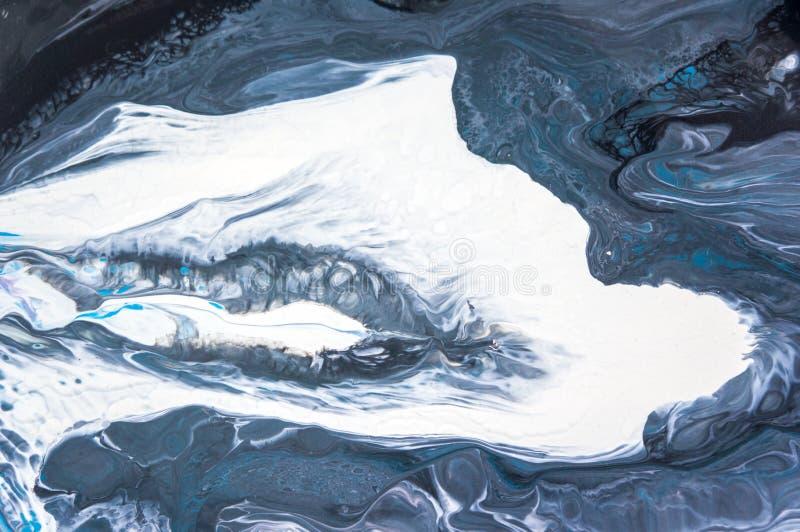 Acryl, Farbe, abstrakt Nahaufnahme der Malerei Bunter abstrakter Malereihintergrund Hoch-strukturierte Ölfarbe Hohe Qualität stockbilder