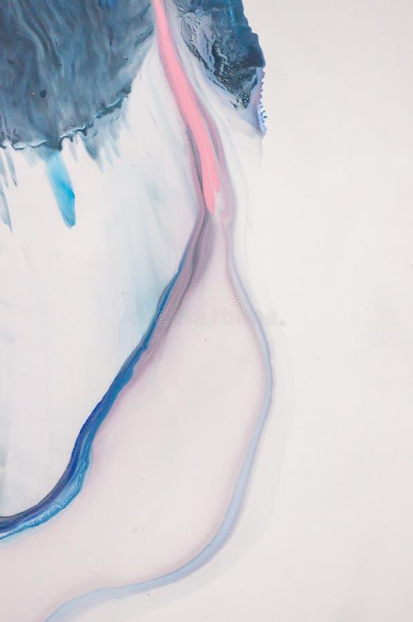 Acryl, verf, samenvatting Close-up van het schilderen Kleurrijke abstracte het schilderen achtergrond Hoogst-geweven olieverf Hoo stock fotografie
