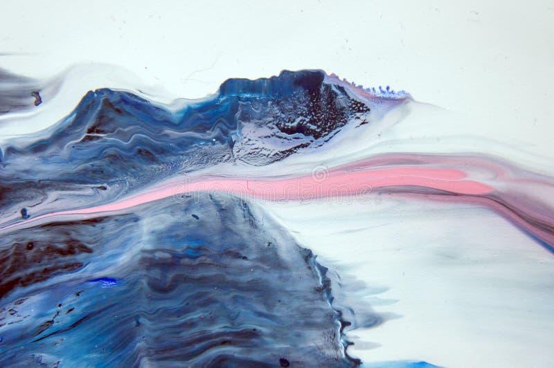 Acryl, verf, samenvatting Close-up van het schilderen Kleurrijke abstracte het schilderen achtergrond Hoogst-geweven olieverf Hoo royalty-vrije illustratie