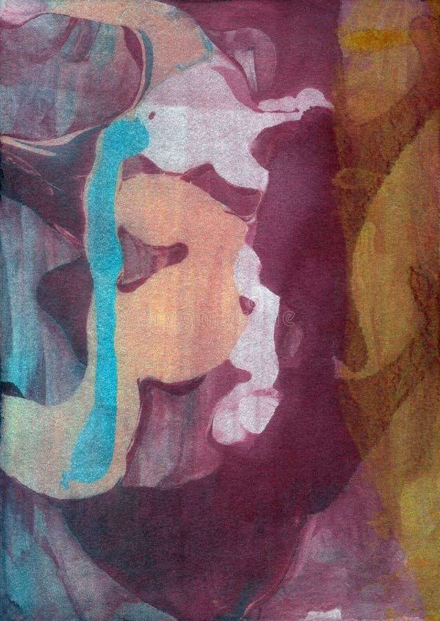 Acrylhintergrund blauen violetten Neonaquarells Bstract vektor abbildung