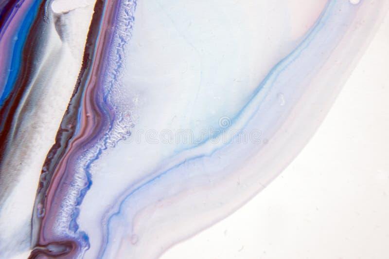 Acrylic, краска, абстрактная Крупный план картины Цветастая абстрактная предпосылка картины Высок-текстурированная краска масла В стоковая фотография rf