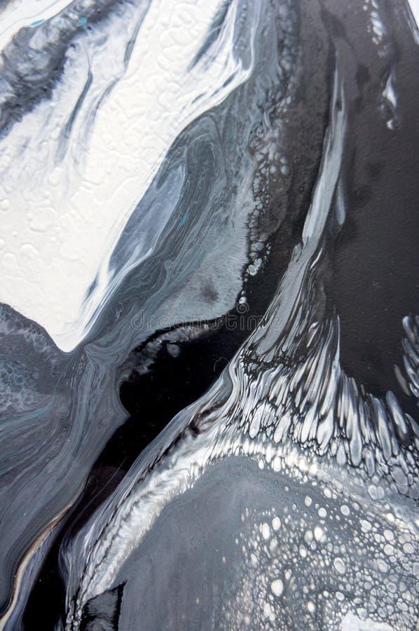 Acrylic, краска, абстрактная Крупный план картины Цветастая абстрактная предпосылка картины Высок-текстурированная краска масла В стоковая фотография