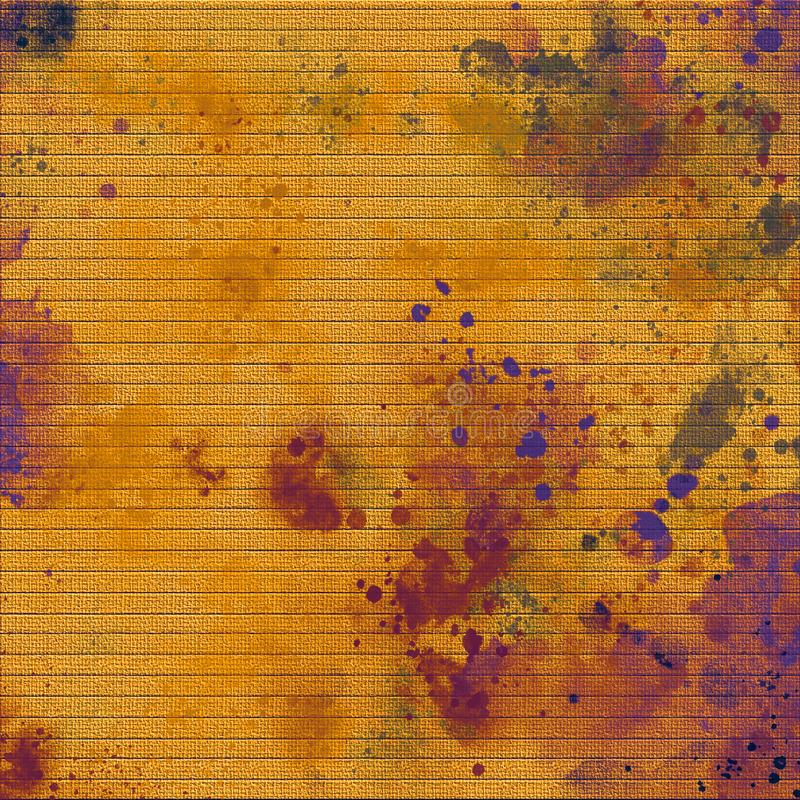 Ink spill on paper board. Bright strokes. Ink spill artwork. Dry inking surface. Acrylic color splashed background. Contrast digital print paper. Thick paint royalty free illustration