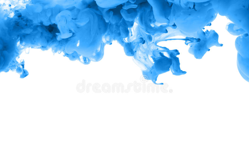 Acrylic colors and ink in water. Abstract frame background. Isolated. Acrylic colors and ink in water. Abstract frame background. Isolated on white royalty free stock image