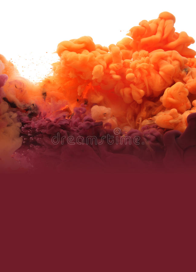 Acrylic colors in water. Abstract background. Isolated royalty free stock photos