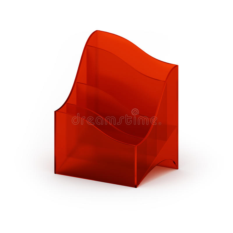 Acrylic holder. For business cards and other prints, isolated on white vector illustration