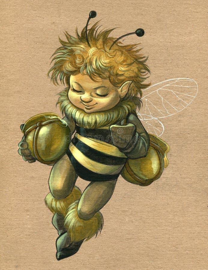 Little Bee vector illustration