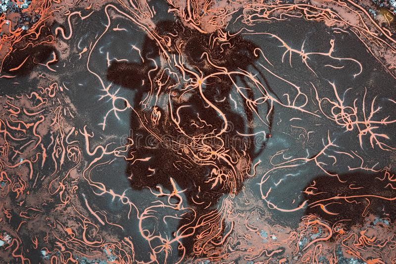 Acrylic liquid- mixed fluid paints art work. Fluid Art- liquid ink pattern. Acrylic paint- acrylic paint to create picture of any style. Artwork blob swirl stock photos