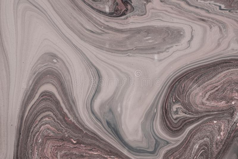 Acrylic liquid- mixed fluid paints art work. Fluid Art- liquid ink pattern. Acrylic paint- acrylic paint to create picture of any style. Artwork blob swirl stock image