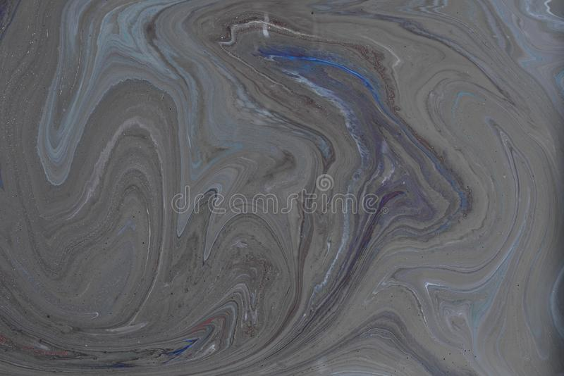 Acrylic liquid- mixed fluid paints art work stock image
