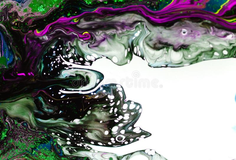 Acrylic, paint, abstract. Closeup of the painting. Colorful abstract painting background. Highly-textured oil paint. High quality. Color, digital stock photo