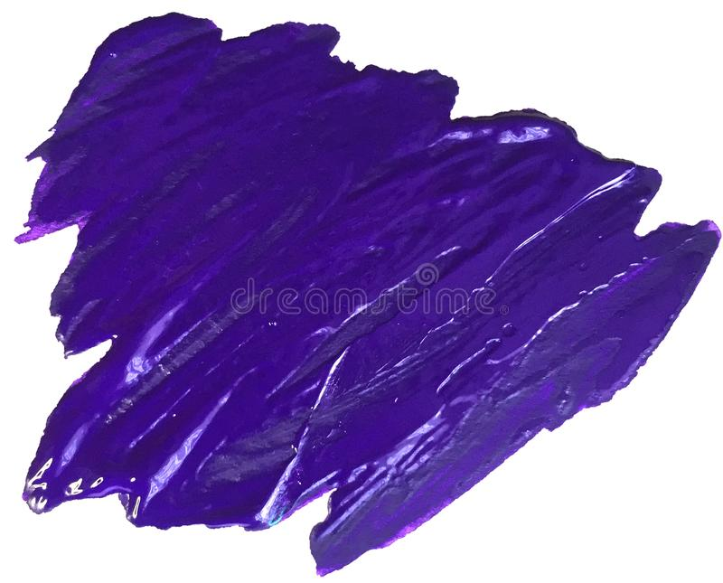 Acrylic purple texture stain with brush strokes. raster illustration for logo and banner royalty free stock photo