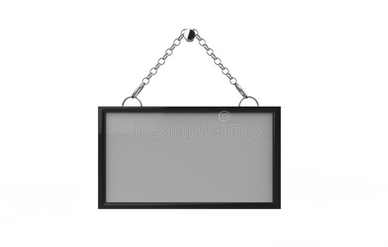 Acrylic Sign Holder vector illustration