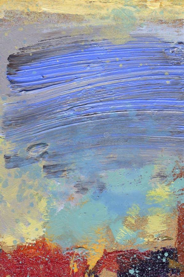 acrylics glazerunków hardboard nafciana farba fotografia stock