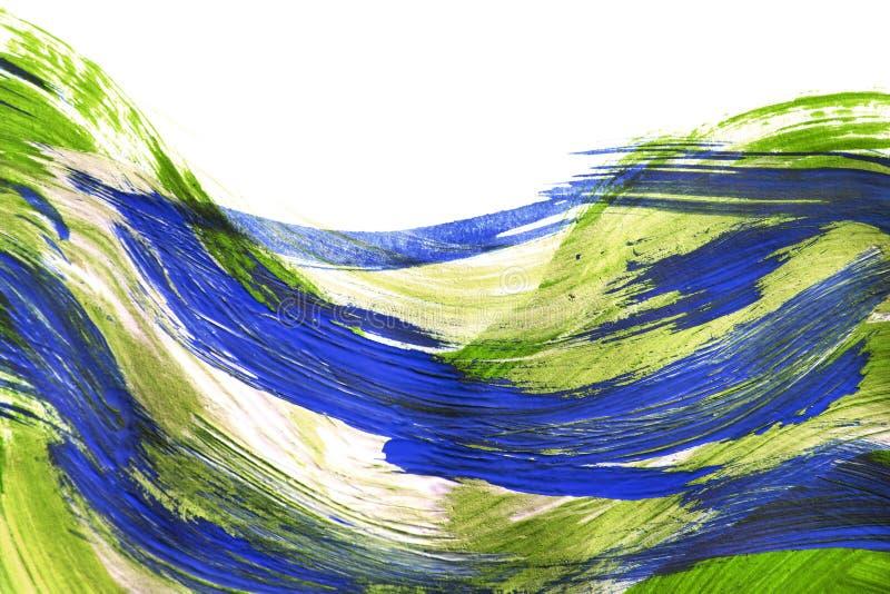 Acrylip farby muśnięcia uderzenia ilustracja wektor