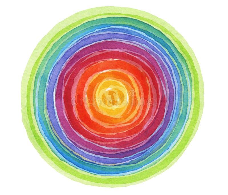 Acrylique abstrait et fond peint par cercle d'aquarelle photo stock