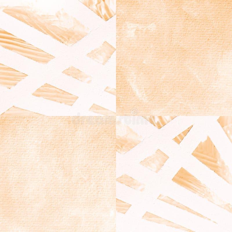 Acrylique de résumé sur le fond de papier - sépia photo stock