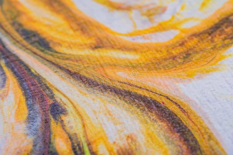 Acrylique liquide Tache liquide de couleur d'art photographie stock