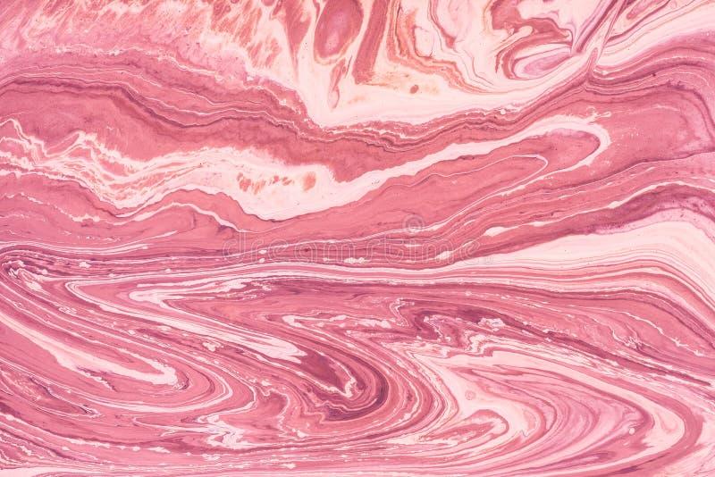 Acrylique liquide Tache liquide de couleur d'art image stock