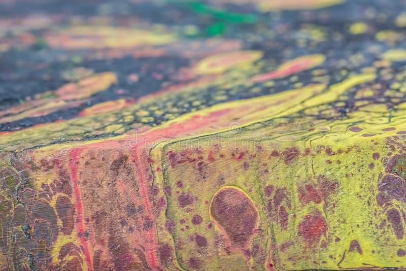 Acrylique liquide Tache liquide de couleur d'art photo stock