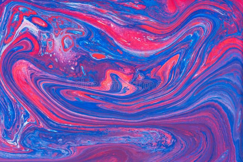 Acrylique liquide Tache liquide de couleur d'art photos stock
