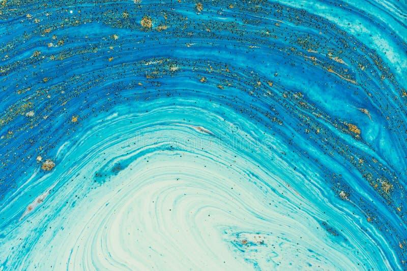 Acrylique liquide Tache liquide de couleur d'art photographie stock libre de droits