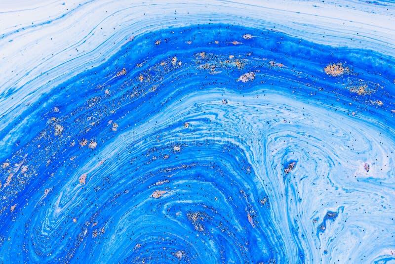 Acrylique liquide Tache liquide de couleur d'art image libre de droits