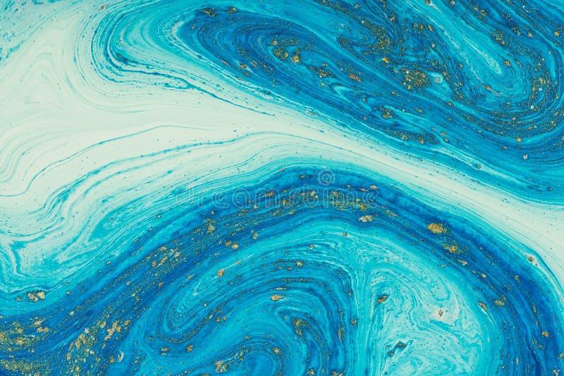 Acrylique liquide Tache liquide de couleur d'art images stock