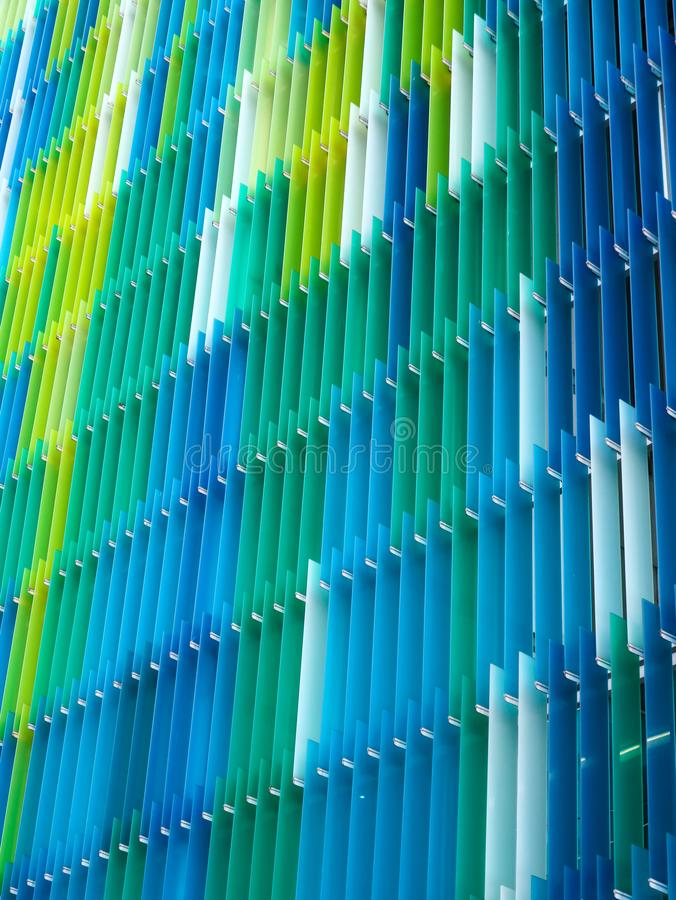 Acrylkunststoffplatte-Innenvertikale, Farbgelbes blaues Aqua stockfotografie