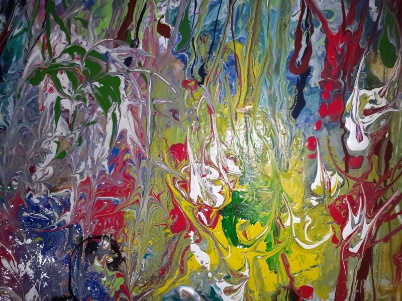 Acrylmalerei der abstrakten Natur stockbilder