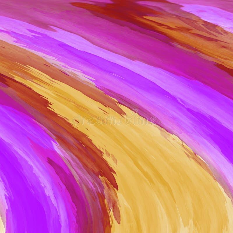 Acrylsamenvatting Close-up van het schilderen Kleurrijke abstracte achtergrond vector illustratie