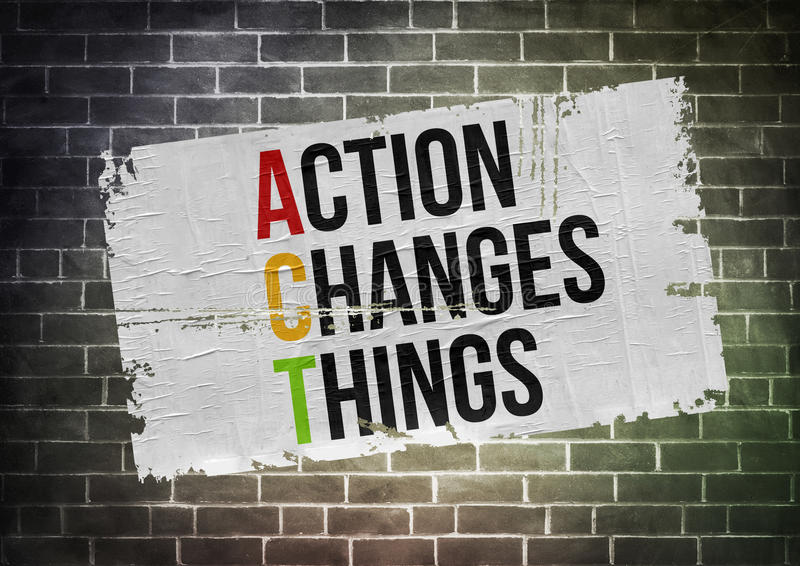 Act Changes Things vector illustration